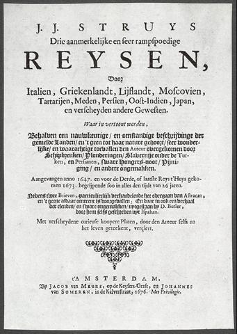 1676 Book page Jan Struys