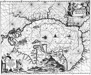 Map Caspian Sea by Jan Struys