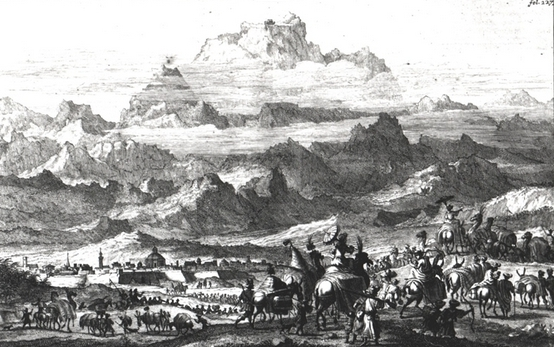 Noah's ark on mount Ararat by Jan Struys